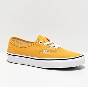 Vans Authentic Mens Low Skateboard Shoes Yellow